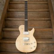 Les paul custom natural de leeuw guitars