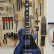 Les paul Gibson restaurée l'accord du bois de leeuw guitars 1